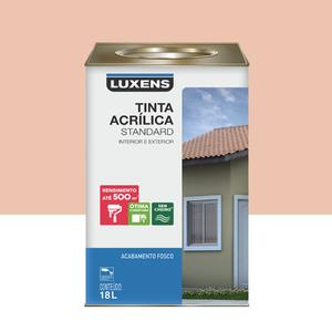 Tinta Acrílica Fosco Standard Pêssego 18L Luxens
