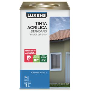 Tinta Acrílica Fosco Standard Vanila 18L Luxens