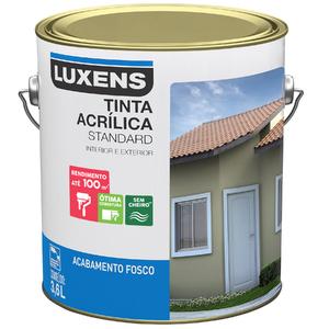 Tinta Acrílica Fosco Standard Vanila 3,6L Luxens