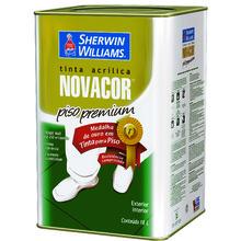 Tinta Acrílica para Piso Fosco Premium Novacor Piso Premium Amarela Demarcação 18 L Sherwin Williams