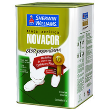 Tinta Acrílica para Piso Fosco Premium Novacor Piso Premium Cinza 18 L Sherwin Williams