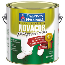 Tinta Acrílica para Piso Fosco Premium Novacor Piso Premium Vermelha 3,60 L Sherwin Williams