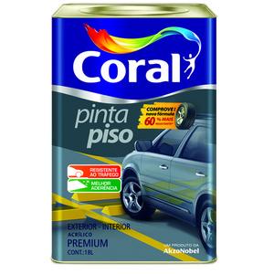 Tinta Acrílica para Piso Fosco Premium Pinta Piso Cinza Escuro 18 L Coral