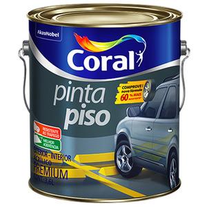 Tinta Acrílica para Piso Fosco Premium Pinta Piso Cinza Medio 3,6 L Coral