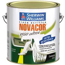 Tinta Acrílica para Piso Semi Brilho Standard Novacor Piso Ultra Branca 3,60 L Sherwin Williams