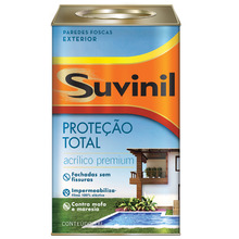 Tinta Acrilica Premium Fosco Proteção Total Branco 18L Suvinil