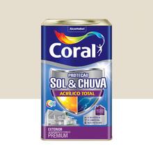 Tinta Acrílica Premium Impermeabilizante Fosco Proteção Sol & Chuva Algodão Egípcio 18L Coral