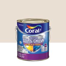 Tinta Acrílica Premium Impermeabilizante Fosco Proteção Sol & Chuva Algodão Egípcio 3,6L Coral