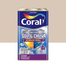 Tinta Acrílica Premium Impermeabilizante Fosco Proteção Sol & Chuva Areia 18L Coral