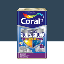 Tinta Acrílica Premium Impermeabilizante Fosco Proteção Sol & Chuva Escrita Antiga 18L Coral