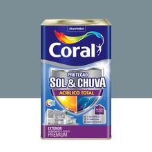 Tinta Acrílica Premium Impermeabilizante Fosco Proteção Sol & Chuva Mergulho Sereno 18L Coral
