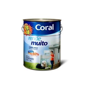 Tinta acrílica Rende Muito Standard Branco Neve 20 litros Coral