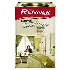 Tinta Acrílica Semi Brilho Extravinil Premium 18l Branca Renner