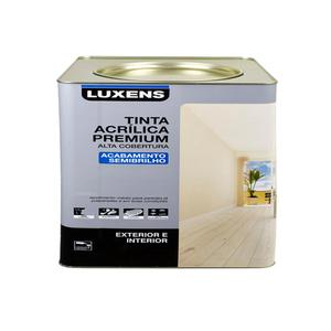 Tinta Acrílica Semi Brilho Premium Gelo 7,2L Luxens