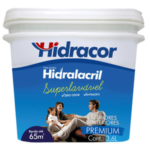 Tinta Acrílica Semi Brilho Hidralacril Damasco 3,6L Hidracor