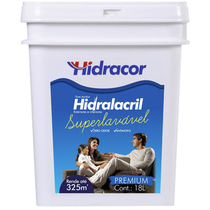 Tinta Acrílica Semi Brilho Hidralacril Verde Brasil 18L Hidracor