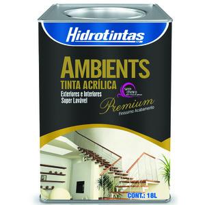 Tinta Acrílica Semi Brilho Premium Ambients Amarelo Vanila 18L Hidrotintas