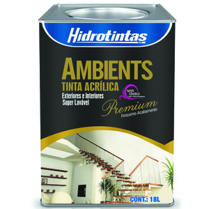 Tinta Acrílica Semi Brilho Premium Ambients Areia 18L Hidrotintas