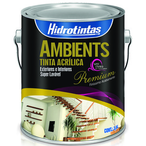 Tinta Acrílica Semi Brilho Premium Ambients Palha 3,6L Hidrotintas
