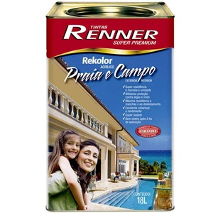 Tinta Acrílica Semi Brilho Rekolor Premium 18l Branca Renner
