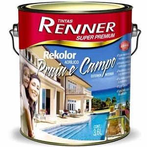 Tinta Acrílica Semibrilho Rekolor Pró 3,6L Renner