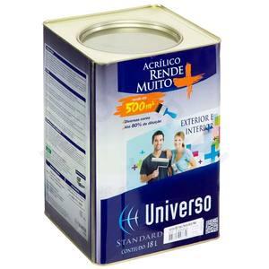Tinta acrílica Standard 18L Branco Universo