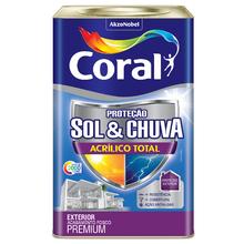 Tinta Acrílico Total Fosco Premium Branco 18L Coral