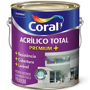 Tinta Acrílico Total Fosco Premium Vermelho Revigorante 3,6L Coral