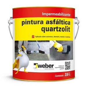 Tinta Asfáltica Acqua 3,6L Quartzolit
