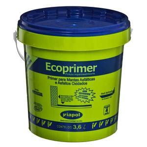 Tinta Asfáltica Impermeabilizante Ecoprimer Preta Lata 3,6L Asfalto para Manta Asfáltica