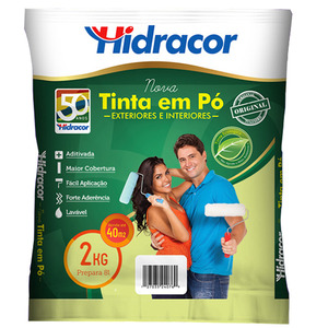 Tinta em Pó Verde Amazônas 2Kg Hidracor
