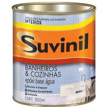 Tinta Epóxi Acetinado Premium Banheiros & Cozinhas Branca 0,90 L Suvinil