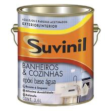 Tinta Epóxi Acetinado Banheiros & Cozinhas Premium Branco 3,6L Suvinil
