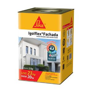 Tinta impermeabilizante igolflex fachada 23kg sika leroy for Pintura impermeabilizante sika