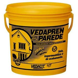 Tinta Impermeabilizante Parede Vedapren 3,6Kg Branco Vedacit