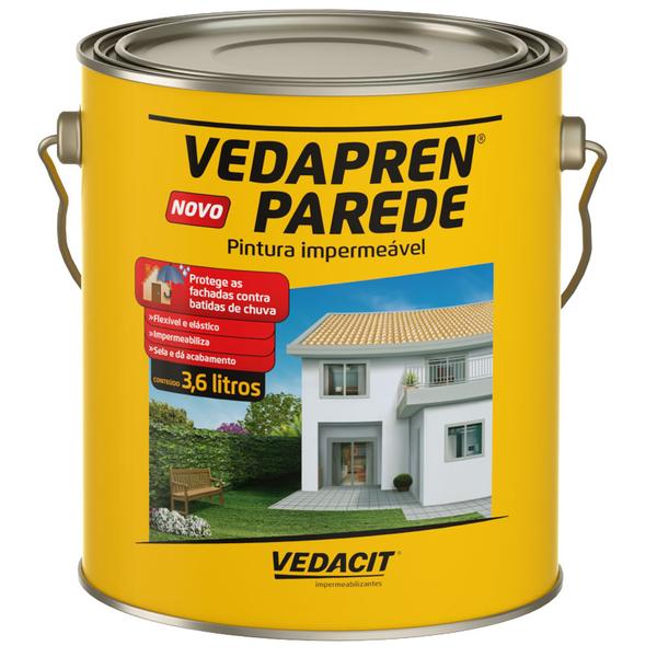 Tinta impermeabilizante parede vedapren 3 6l branco vedacit leroy merlin - Impermeabilizante para paredes ...