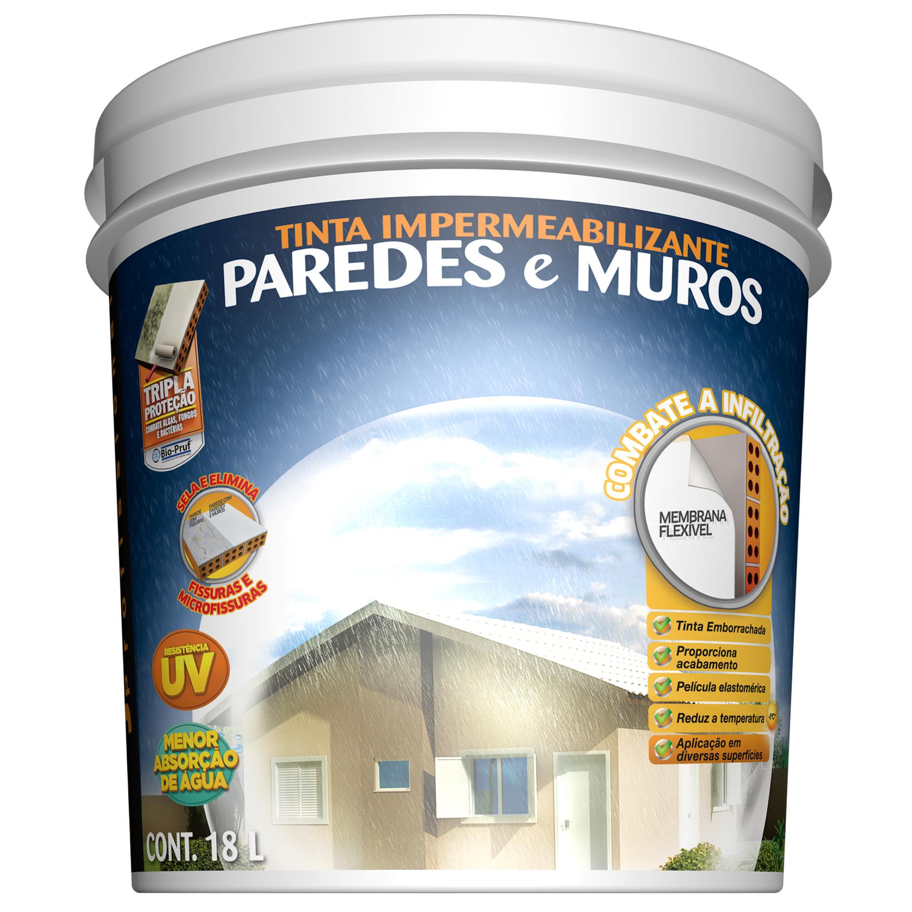 Tinta impermeabilizante paredes e muros 18l branco - Impermeabilizante para paredes ...
