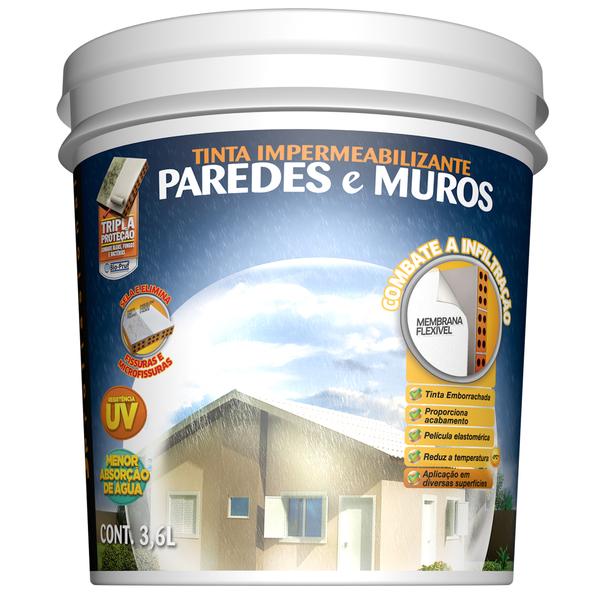 Tinta impermeabilizante paredes e muros 18l concreto hydronorth leroy merlin - Impermeabilizante para paredes ...