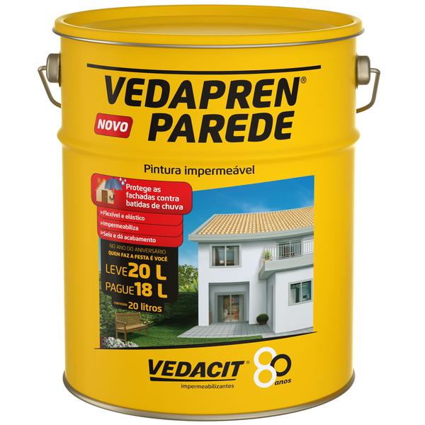 Tinta impermeabilizante vedapren parede 20l branco vedacit - Impermeabilizante para paredes ...
