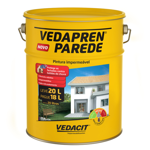 Tinta impermeabilizante vedapren parede areia 20l vedacit for Impermeabilizante para estanques de agua