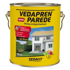 Tinta Impermeabilizante Vedapren Parede Concreto Galão 3,6L
