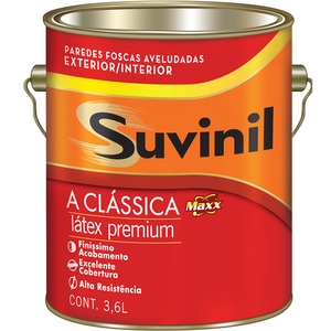 Tinta Látex PVA Fosco Premium Maxx Suvinil 3,6 L Vanila