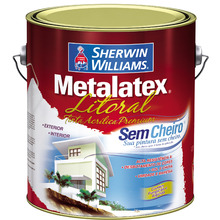 Tinta para Litoral Acetinado Premium Metalatex Pérola Guarujá 3,60 L Sherwin Williams