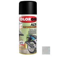 Tinta Spray Alta Temperatura Colorgin  Alumínio 300ml
