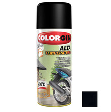 Tinta Spray Alta Temperatura Colorgin Preto Fosco 300ml