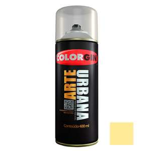 Tinta Spray Arte Urbana Fosco Amarelo Baunilha 400ml Colorgin