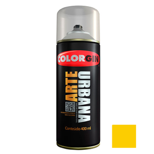 Tinta Spray Arte Urbana Fosco Amarelo Sol 400ml Colorgin