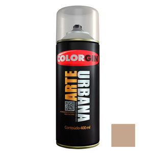 Tinta Spray Arte Urbana Fosco Avelã 400ml Colorgin