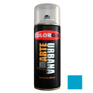 Tinta Spray Arte Urbana Fosco Azul Celeste 400ml Colorgin