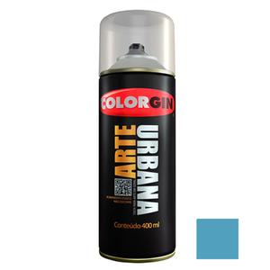 Tinta Spray Arte Urbana Fosco Azul Céu 400ml Colorgin
